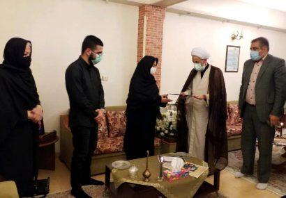 دیدار آیت الله لائینی از خانواده شهید خدمت دکتر ذاکریان