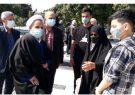 لحظه تحویل سال ۱۴۰۰ و حضور مدیرکل بنیاد شهید مازندران در گلزار شهدا